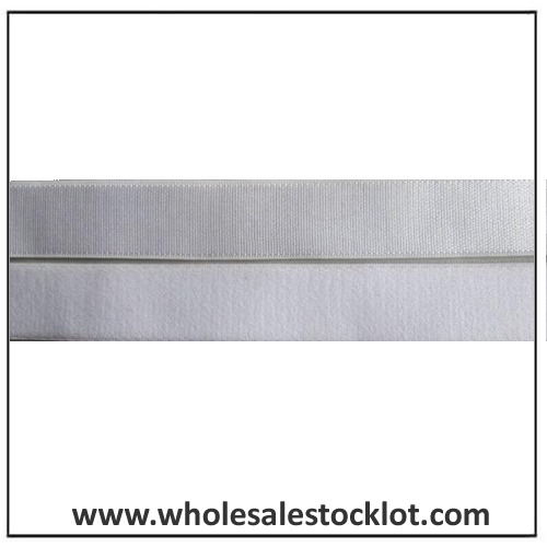 Custom Woven Jacquard Elastic Webbing White Stock