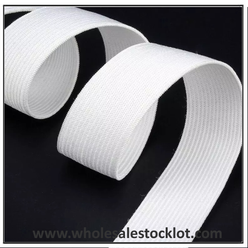 White Polyester Elastic Band Inventory Wholesaler