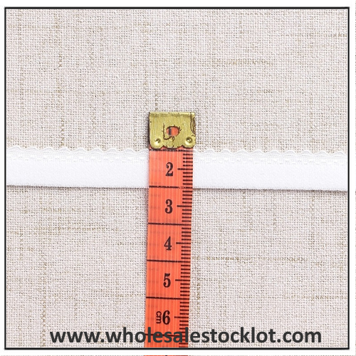 10mm Width Elastic Tape with Lace Trim for Lingerie
