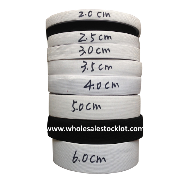 25mm-60mm Elastic Flat Bands